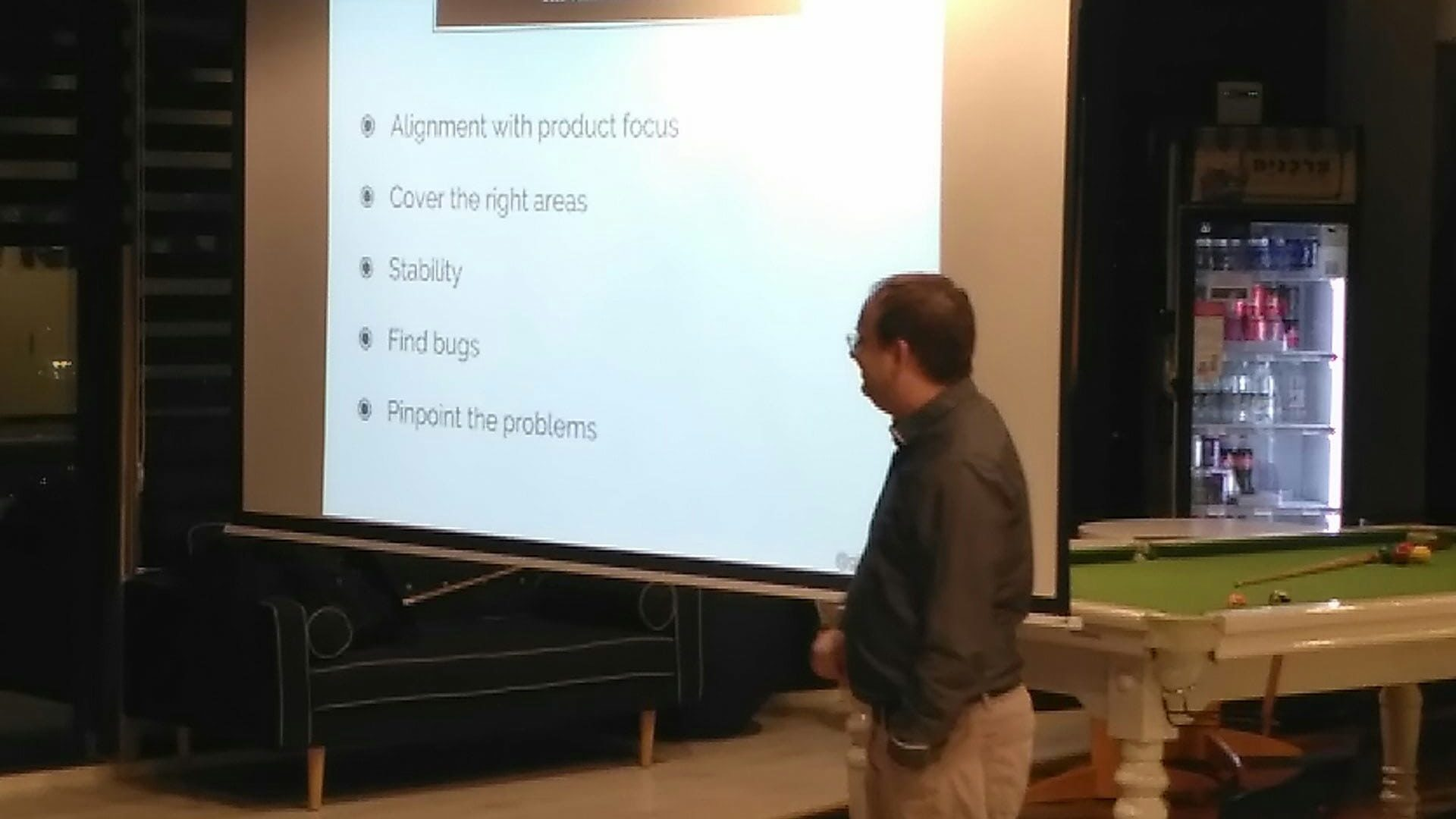 Gil Zilberfeld at the Test IL meetup.